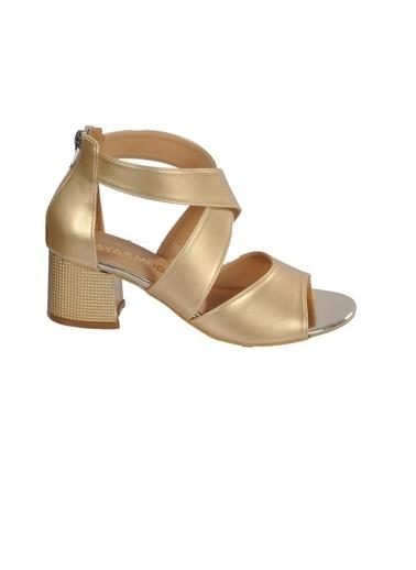 Maje 5045 Platin Kadın Topuklu Ayakkabı Altın